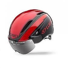Giro Air Attack Shield Bright Red Black Aero Bike Helmet