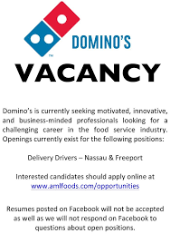Job Vacancy Food Service Pizza Professional Look