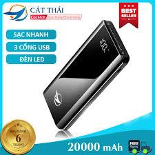 Pin Sạc Dự Phòng K29 20000mah Cát Thái thích hợp dùng cho IPhone và  Android, SamSung, Vivo, Xiaomi Sạc nhanh 2A 3 cổng USB 2 đèn LED giá rẻ  296.000₫