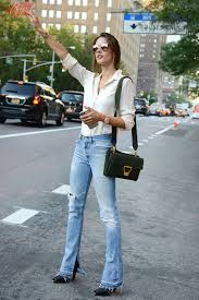Alessandra Ambrosio radiated casual chic as she hailed a taxi on a.