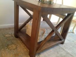 ana white build a rustic x end table rustic x end tables diy projects on square