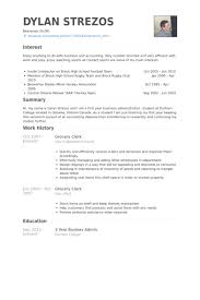 Grocery Clerk Resume Samples Visualcv Resume Samples Database