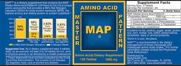 Master Amino Acid Pattern Inspiration MAP Master Amino Acid Pattern The BEST ProteinAmino Acid Supplement