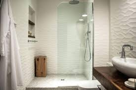 white wavy tile bathroom undulating tile by turns the white walls of this modern bathroom into white wavy tile