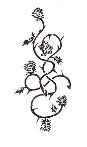 rose vine tattoo designs.  Rose Nice Rose Vines Tattoos Inside Vine Tattoo Designs E