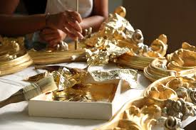 furniture made in italy. Classic Furniture Made In Italy: Artisan Gilding With Thin Gold Leaves Italy T