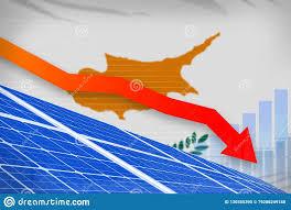 Cyprus Stock Market Chart Cyprus Solar Energy Power Lowering Chart Arrow Down