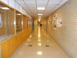 hallway at school. empty school hallway at s