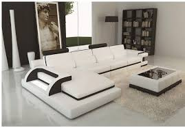 Modern leather sectional sofas Contemporary Amazoncom My Aashis Luxury Polaris White And Black Contemporary Leather Sectional Sofa With Light Kitchen Dining Amazoncom Amazoncom My Aashis Luxury Polaris White And Black Contemporary