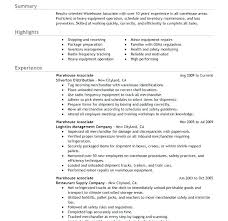 Resume Warehouse Worker – Foodcity.me