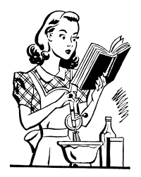 Vintage Woman Cooking Clipart