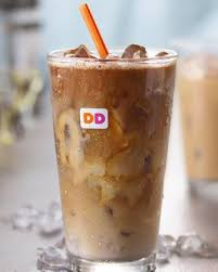 Dunkin donuts, iced coffee with skim milk and sugar (1 serving). What To Try At Dunkin According To A Registered Dietitian Dunkin