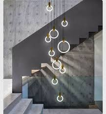 modern stairwell lighting. dramatic lights and modern stairwell lighting