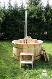 larch wooden hot tub