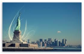statue of liberty hd wallpaper