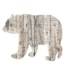 bear wood pallet wall decor