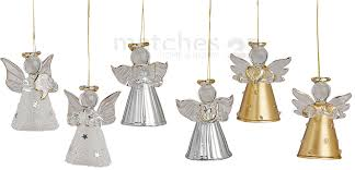 Weihnachtsbaumschmuck Engel 6 Stück Je 4 Cm Aus Glas Christbaumschmuck Matches21