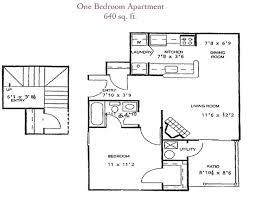 One Bedroom Apartment 640sf   Cross Creek Apartments