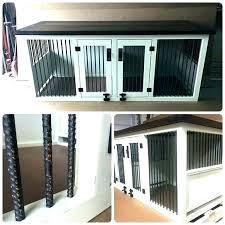 wood dog kennel furniture dog kennel furniture double crate original wooden wood coffee table pl diy