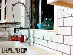 DIY How to Install Subway Tile Backsplash in Kitchen -- EASY & CHEAP.