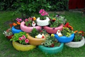 garden materials. Cool Garden With Recycled Materials R