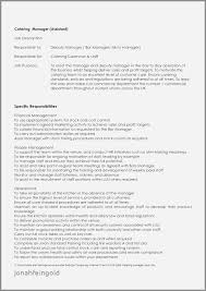 Example Resume For Duty Manager Luxury Bar Manager Job Description