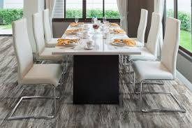 measuring in at 7 3 by 48 with an incredible thickness of 8mm the fusion warm pewter is a mixture between rustic with cape cod style influence