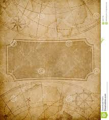 Old Map Cover Template Or Background Stock Illustration