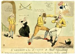 the printshop window in attitudes towards the playful transgression of gender roles which had characterised elite social activities during the middle decades of the century