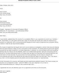Probation Officer Cover Letter Sample Probation Officer Cover Letter ...