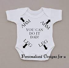 personalised baby vest bodysuit romper funny humorous dad birth gift birthday 0 3 months