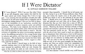 if i were dictator writers in the s plot for a better world  essay by oswald garrison villard