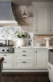Light Grey Cabinets In Kitchen Light Grey Kitchen Cabinets Subway Tile Backsplash Kitchen