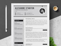 Resume Template By Resume Templates On Dribbble