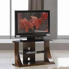 Lcd Tv Furniture Flat Panel Plasma Tv Stands Dark Walnut Black Glass