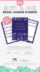 Navy Bridal Shower Planner Printable Bridal Shower Planning Sheets