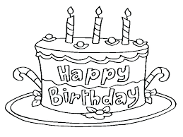 Printable Birthday Cakes Cake Coloring Pages Terrific Printable