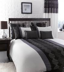 Silver Black And White Bedrooms Bedroom Duvet And Curtain Sets Curtains Ideas With Bedding For