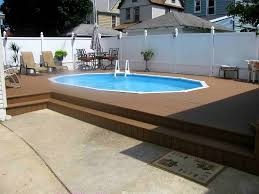 semiinground pool with deck partial inground pool13