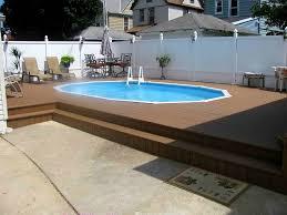 semi inground pool cost. Semi-Inground Pool With Deck Semi Inground Cost O