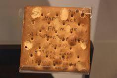 hardtack found on a german ship on display at the national world war i museum kansas city missouri