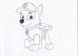 Rocky Only From Paw Patrol Free Colouring Pages Rocky Balboa