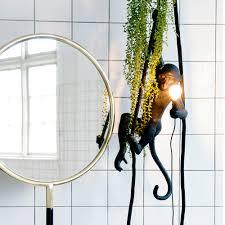 Ceiling Monkey Standing Black H54cm Seletti