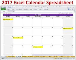 Microsoft Excel Calendar 2020 2017 Excel Calendar Template 2017 Monthly Calendar And 2017 Yearly Calendar Excel Spreadsheet 2017 Calendar Planner Digital Download