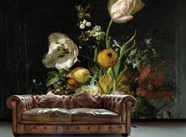 Hip Behang Met Oude Meesters Bloemen Behang Van Rachel Ruysch