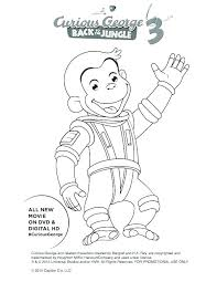 curious george coloring pages s coloring pages free book as well astronaut printable page