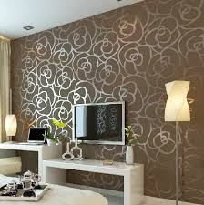 luxury flocking textured wallpaper modern wall paper roll home decor for living room bedroom