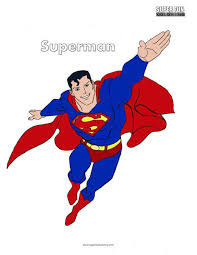 Superman coloring pages for kids. Superman Coloring Page Super Fun Coloring