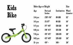 Bike Inches Height Chart Kids Bike Size Guide Kids Bike Sizes Bmx Bikes Kids Bike
