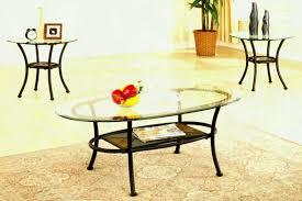 glass end table set